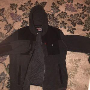 Levi's black and gray lightweight hoodie VGUC